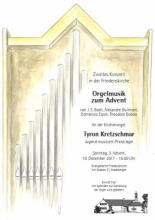 Orgelmusik zum Advent am 10.12.2017